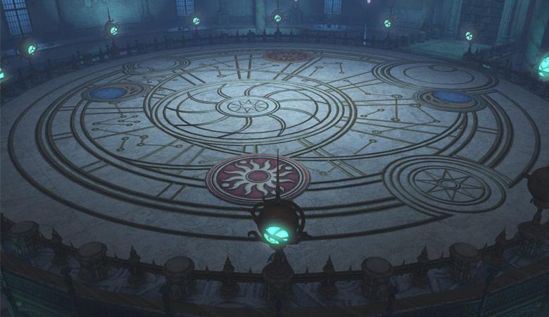 占星学研究室の床模様