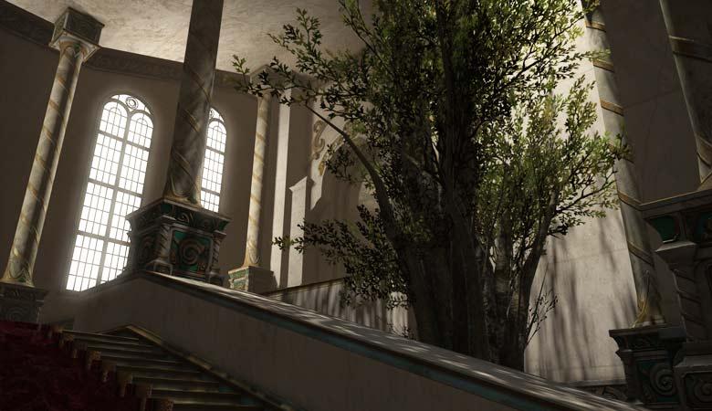 断想閲覧室に繋がる階段