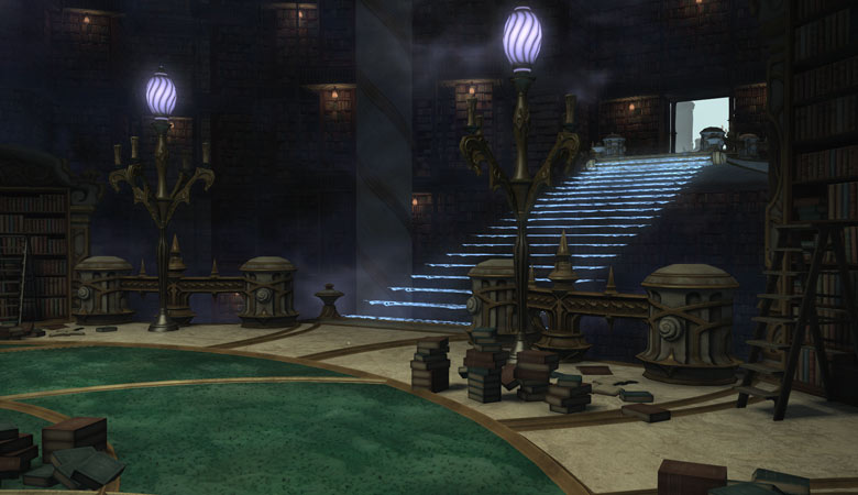 幻想書庫の階段