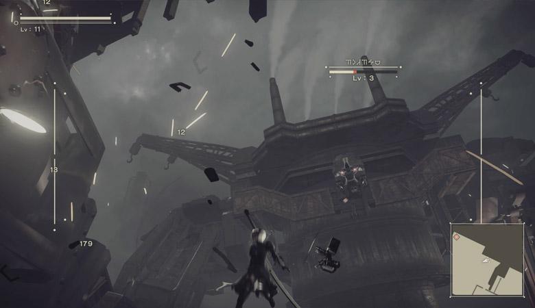 巨大機械生命体の攻撃