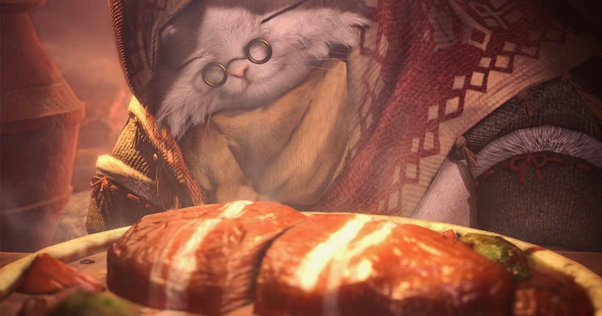 【MHW:IB】光の戦士は猫料理に大満足のようです!