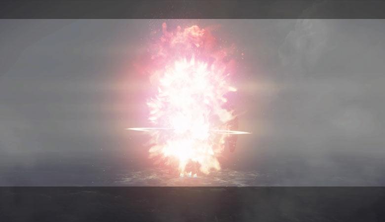 ミサイル着弾
