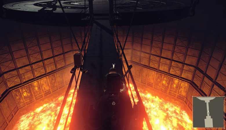 足元には溶鉱炉