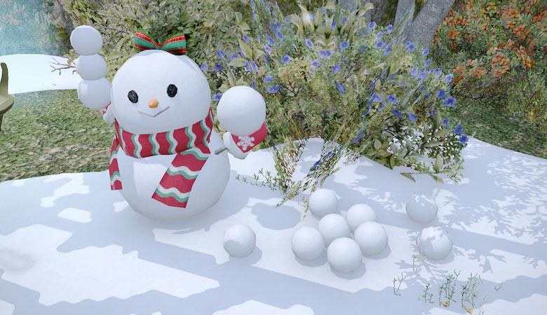 雪だるまの女の子