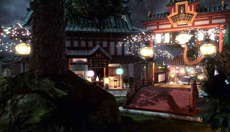 商店街への門