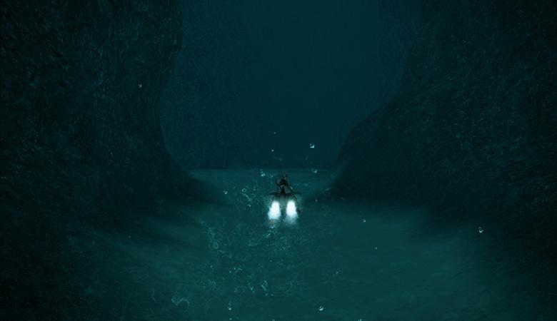 海底を進んで行くと