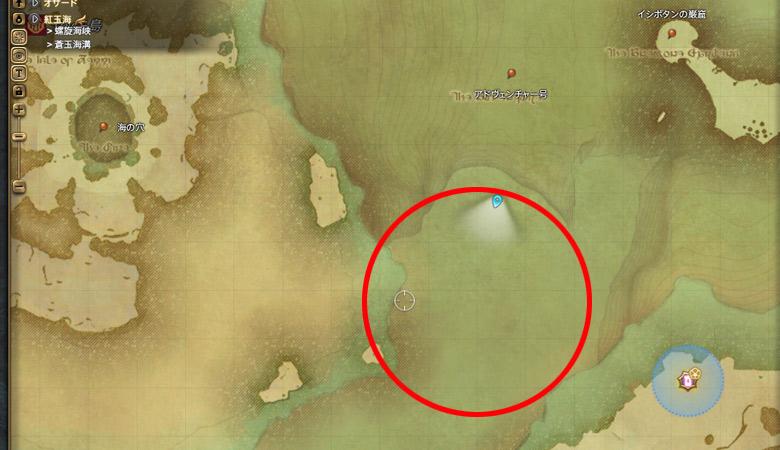 蒼玉海溝の場所