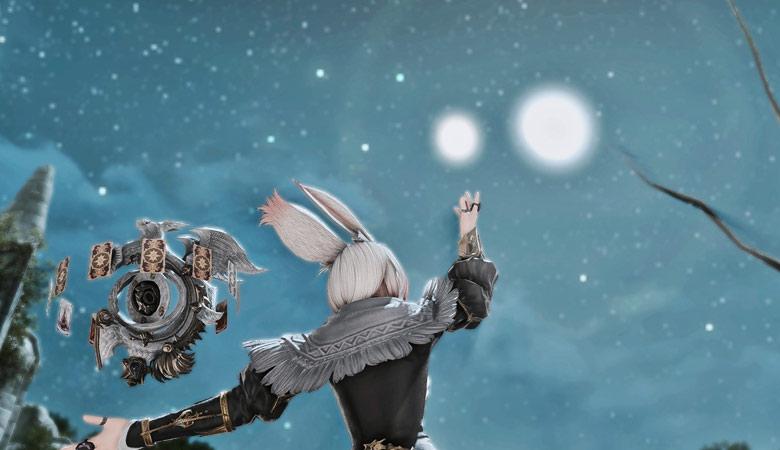 お月様が二つ