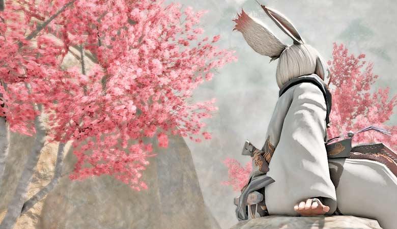 """【FF14】春のデートスポットにも。満開の""""梅泉郷""""を訪れてみる。"""