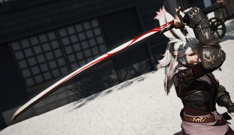 【FF14】流れる血の如き紋様の刀「源氏之刀」をご紹介。