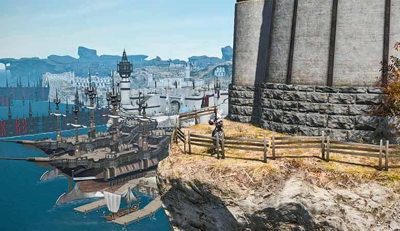 灯台から見えるエールポート