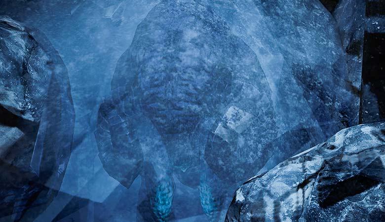 氷漬けのマンモス