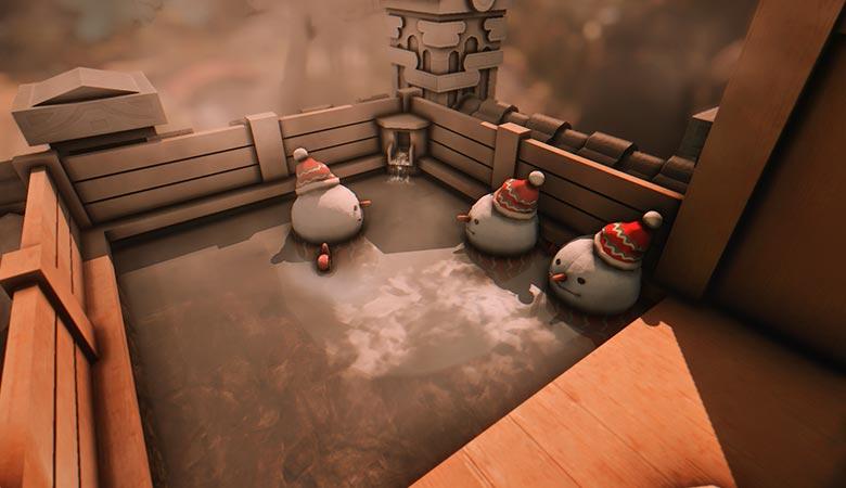 温泉でゆっくりマン