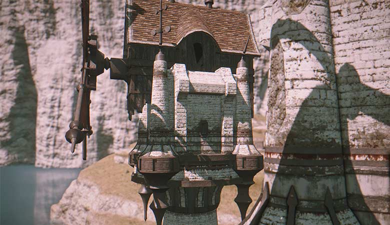 コルシア島の建物