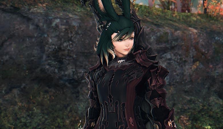 暗黒で緑髪