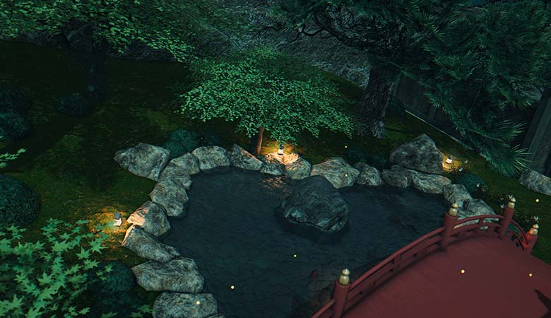 楽水園の池