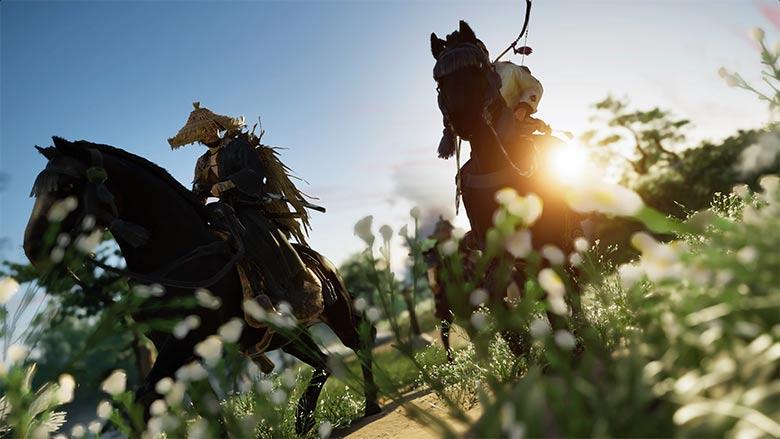 馬で駆ける