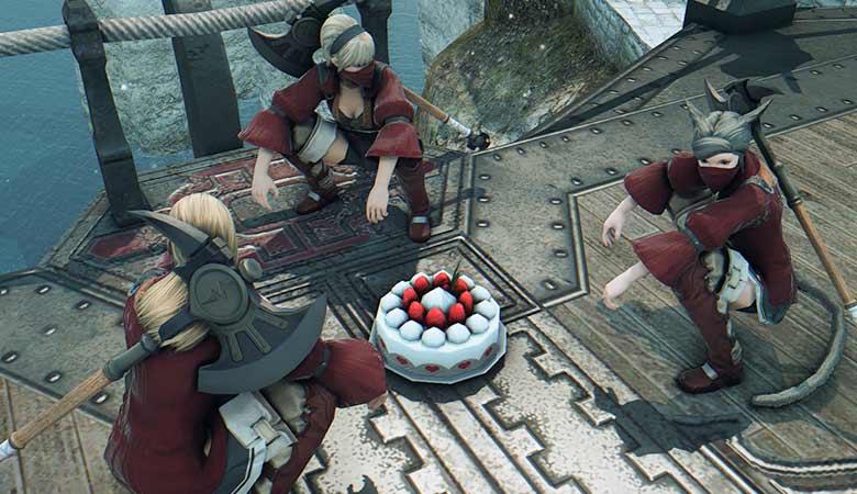 ケーキは仲良く食べましょう