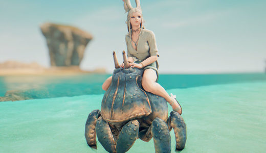 【FF14】飛んだ・・!蟹が飛んだよ!カニマウントに乗ってみよう!