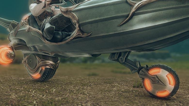 地上モード:車輪