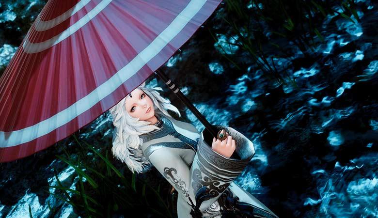 和傘と道士袍服